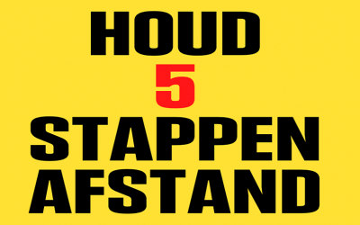 HOUD 5 STAPPEN AFSTAND